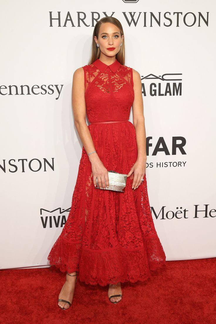Emmy fashion 2014 best red carpet dresses blogher - Amfar New York Gala Red Carpet Dresses 2016 Hannah Davis Wearing An Elie Saab Dress