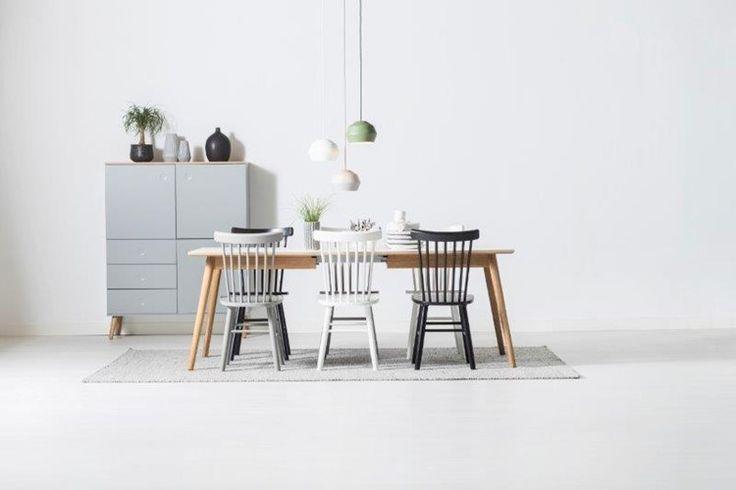 Dot bord/matbord - oljad ek med vit laminat - Svenska Hem