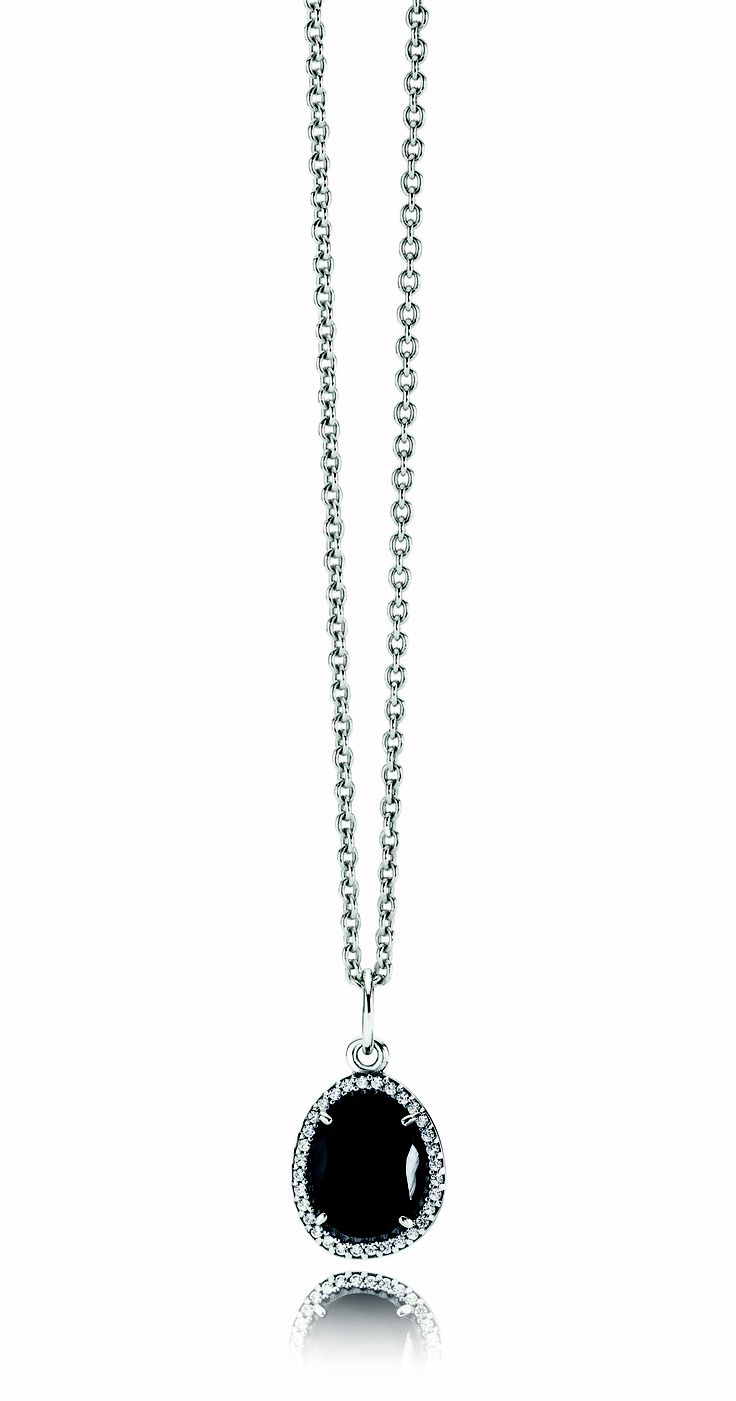 #PANDORA sterling silver necklace from RRP $79 and sterling silver necklace pendant with black spinel and cubic zirconia RRP $129
