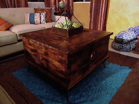 How to age or distress unfinished pine furniture with woodoc
