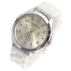 Horloge Geneva gespsluiting Wit - Zilver