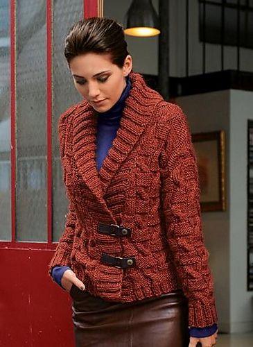 Ravelry: 592 - patrón de chaqueta corta de Bergère de France