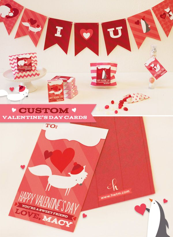 Cute Critters Kids Valentine S Day Cards Banners Diy