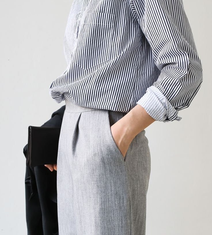 stripe shirt & trousers