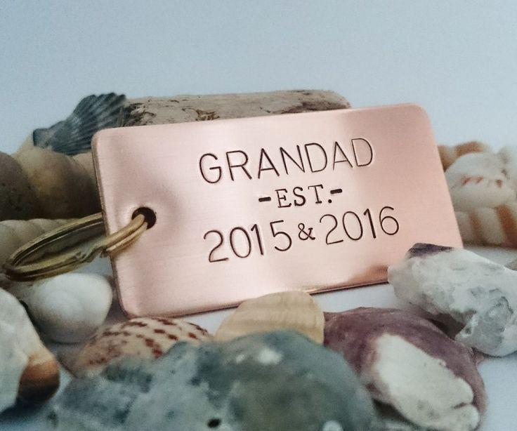 Chunky Rectangle Keyring - Dad keyring - Grandad keyring - New Grandad - New Dad - New Baby - Gifts for new parents - Gifts for New Grandparents - Baby announcement ideas