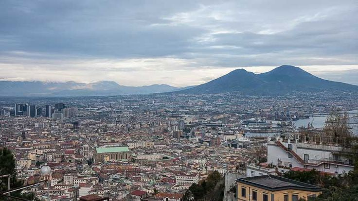 Naples and Vesuvius from Vomero Hill - find out what to do in this part of Naples.