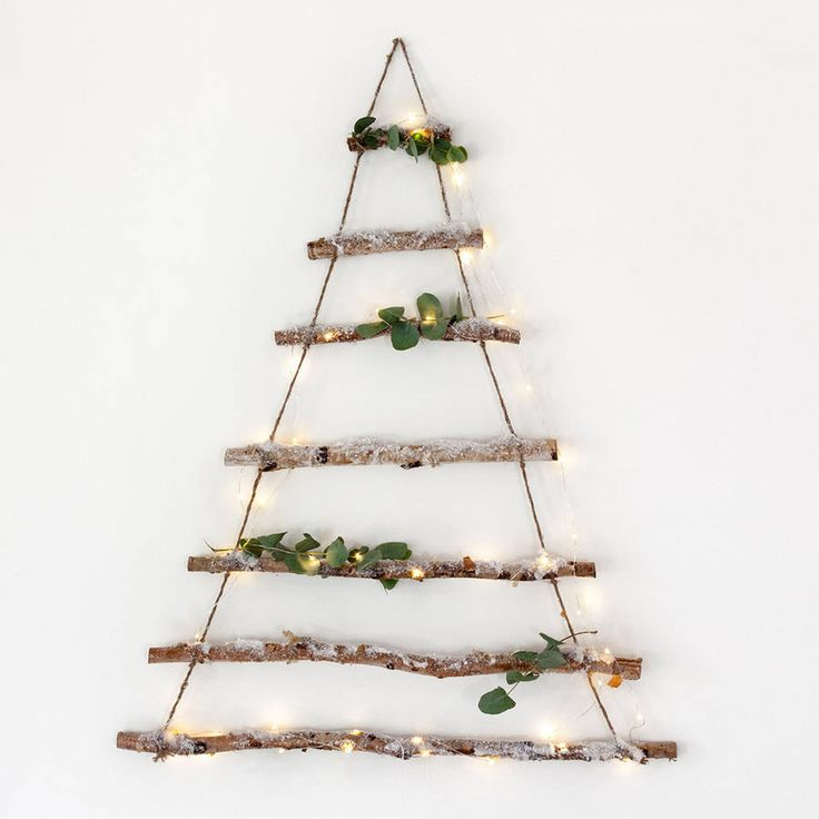 Birch Branch Hanging Christmas Tree