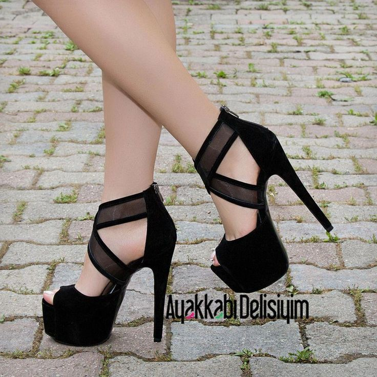 Platform high heel shoes
