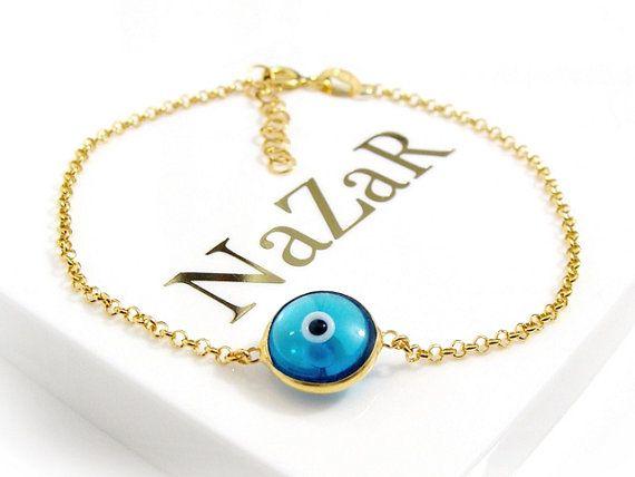 Boze Oog Armband Turkse Oog Armband Nazar Armband door EvilEyeGift