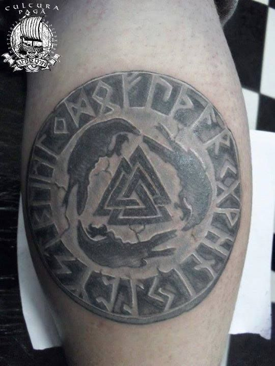 17 best images about tattoos on pinterest white tattoos for Valknut symbol tattoo