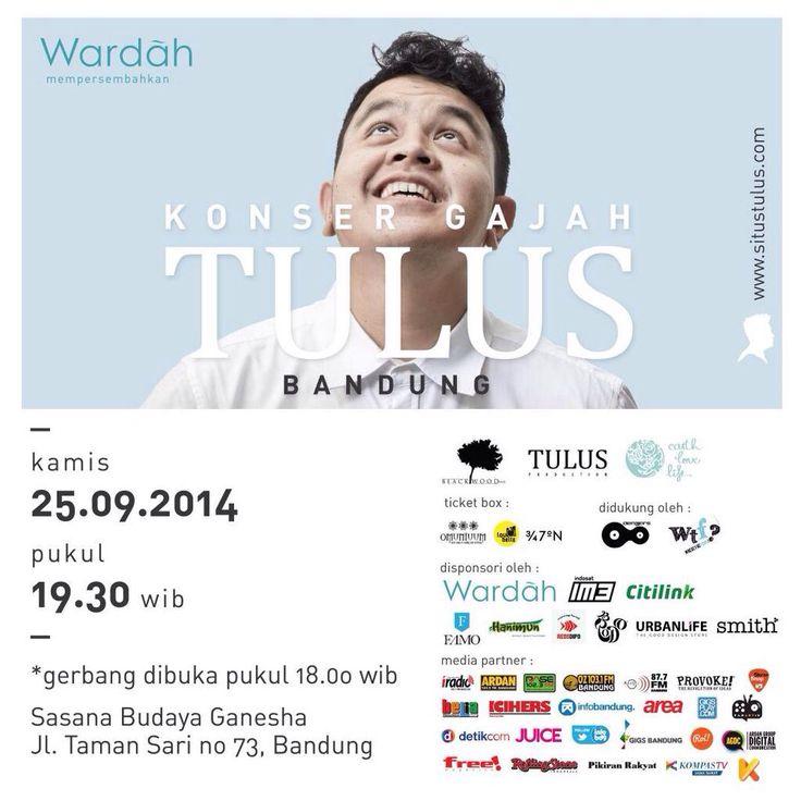 Konser Gajah TULUS 25 September 2014 At Sabuga bandung