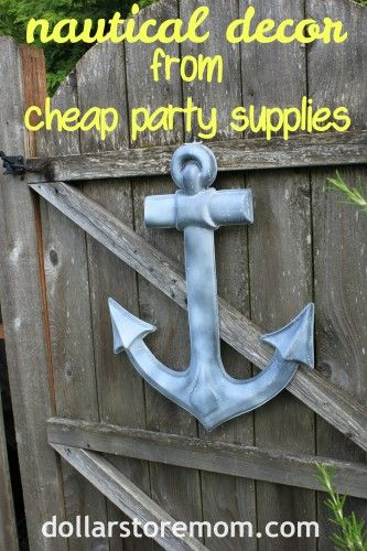 outdoor anchor wreath from cheap party supplies