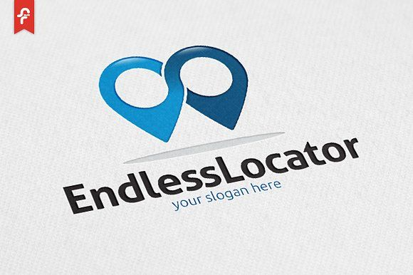 Endless Locator Logo by ft.studio on @creativemarket