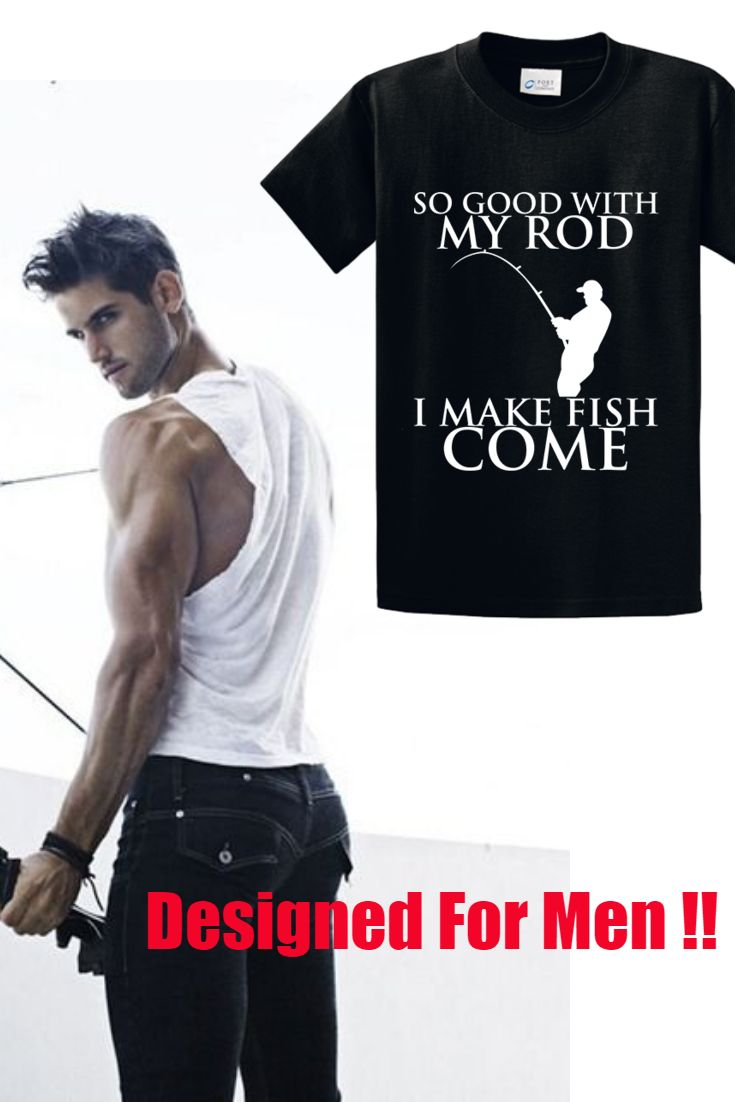 Design your own t shirt made in usa - Fishing Rod