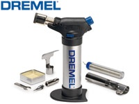 Dremel Versaflame combines open flame use with a catalyst and soldering head making it an extremely versatile stationary burner. The Dremel Versaflame is powered by liquid butane gas for quick heat-up and fast discharge!   #dremel #cooksongold #jewellery tools #handtorch