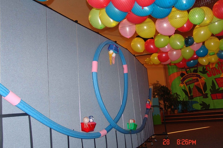 Pool Noodle Roller Coaster Vbs Ideas Colossal Coaster