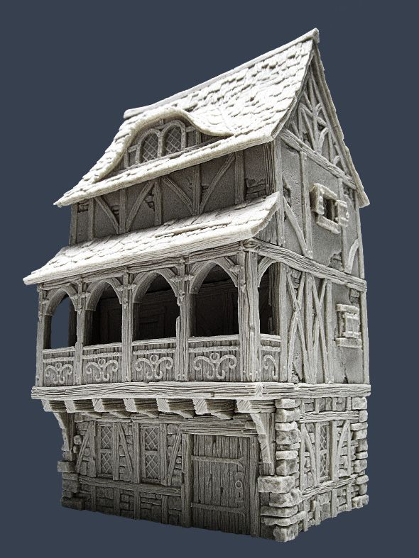 Town House II - Front 2 | Models - Miniatures | Building ...