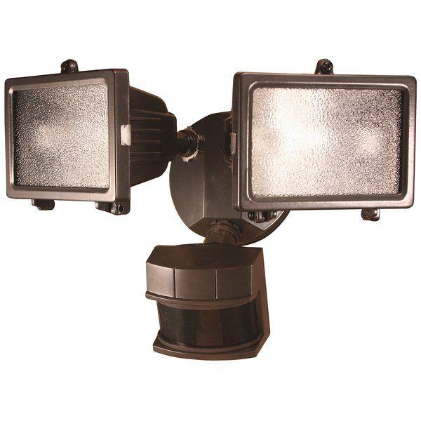 Oakhill Outdoor Security Flood Light Bronze Light Sensor Barn