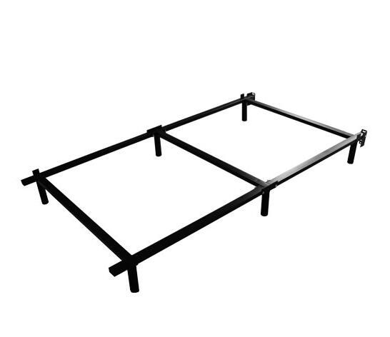 Swascana adjustable standing easy assemble steel bed frame for Simple twin bed frame