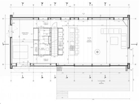 36 best images about eco prefab houses on pinterest for Farnsworth house floor plan