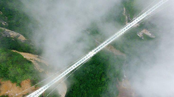 China set to open world's highest and longest glass bridge - BBC News
