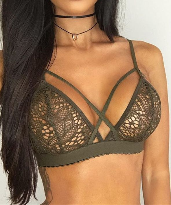 Sexy Lace Stripe Wrappe Femme Chest Crop Top