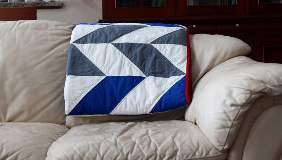 Herringbone quilt pattern Twin Quilt easy quilt by AirBornQuilts