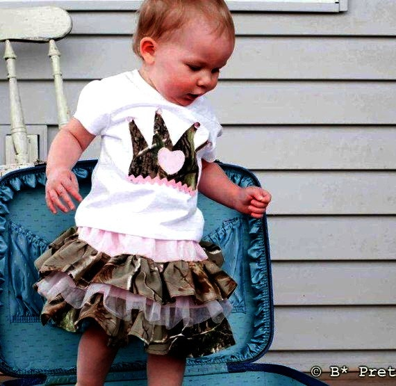#camo baby girl. Because even camo girls have an inner princess.