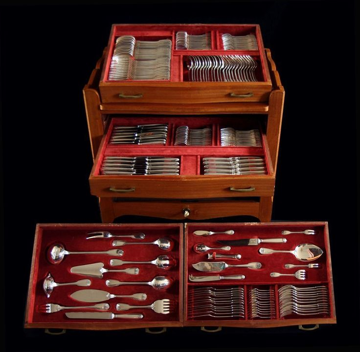 33 best silver and stuff images on pinterest flatware for Silverware storage no drawers