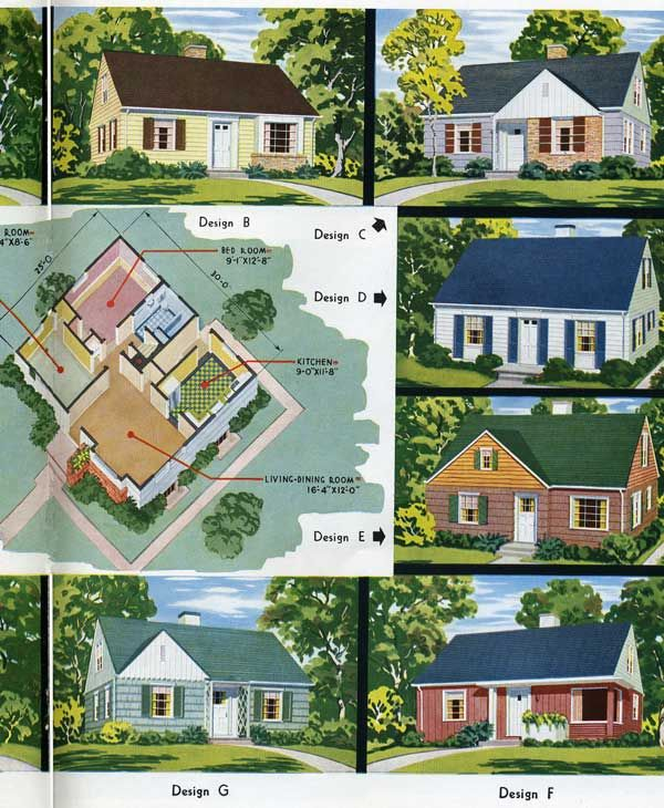 1949 national homes the bell 1940s house pinterest for National house builders