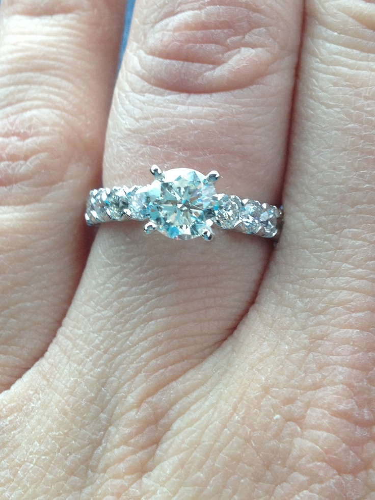 My beautiful Gabriel & Co Engagement Ring!