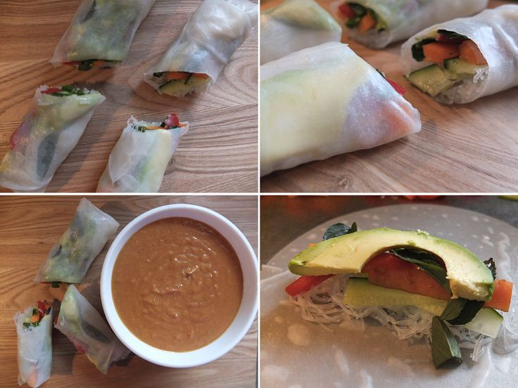 Mint, Basil and Avocado Vegan Rice Paper Rolls