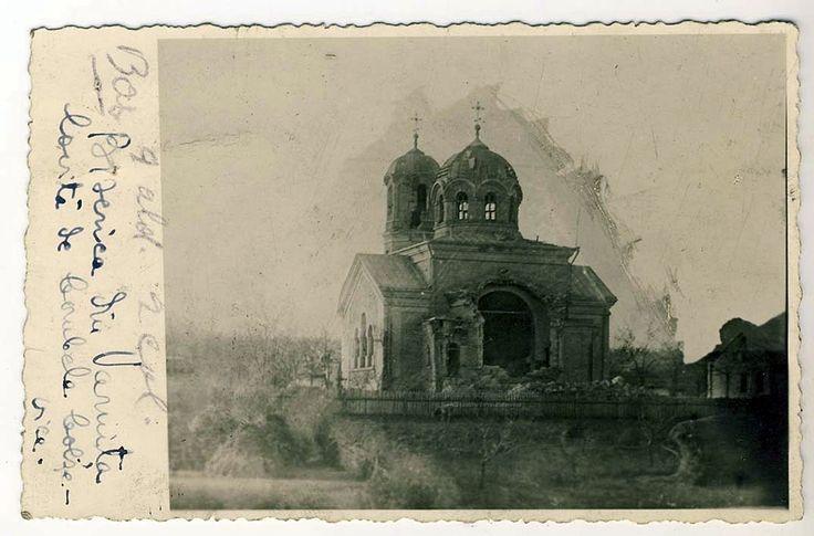 Plasa Bulboaca. Varnița. Biserica lovită de bombele bolșevice.