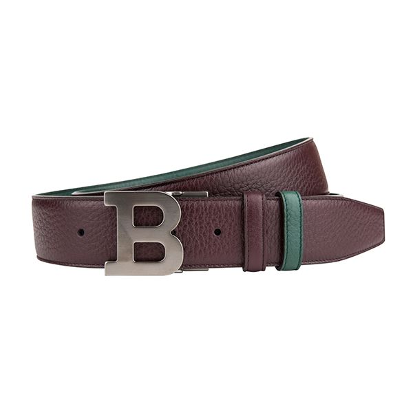 "#Bally double-sided leather belt with special ""B"" buckle. #DesignerOutletParndorf"