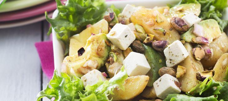 Peruna-fetajuustosalaatti | Alkuruoat | Reseptit – K-Ruoka