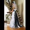 bruidsjurk zwart-wit