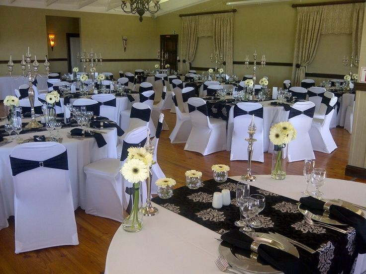 8 best simple traditional wedding decor ideas images on pinterest black and white wedding decor with black embossed table runner and golden accents junglespirit Image collections