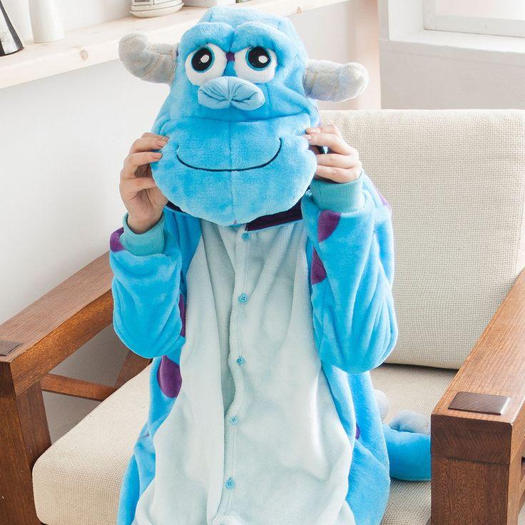 Flannel family animal pajamas one piece onsies onesies cosplay pijama monster pigiama pyjama pijamas enteros de animales