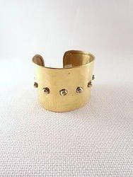 Gold Hammered Cuff - BR002