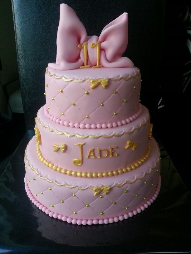 Roze Meisjes Taart My Cakes Pinterest