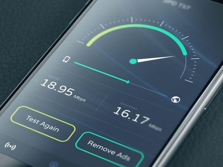 Speed test app  https://dribbble.com/shots/2316715-Speed-test-app