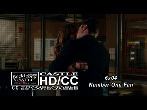 "Castle 6x04  End Scene ""Number One Fan"" Caskett Kiss at 12th Precinct 