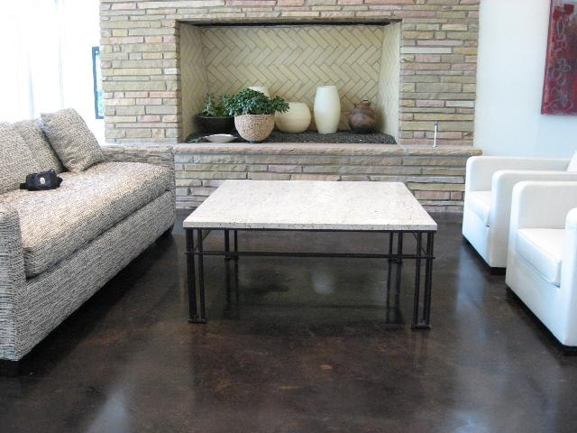 Pictures Of Black Stained Concrete Floors A modern black stained