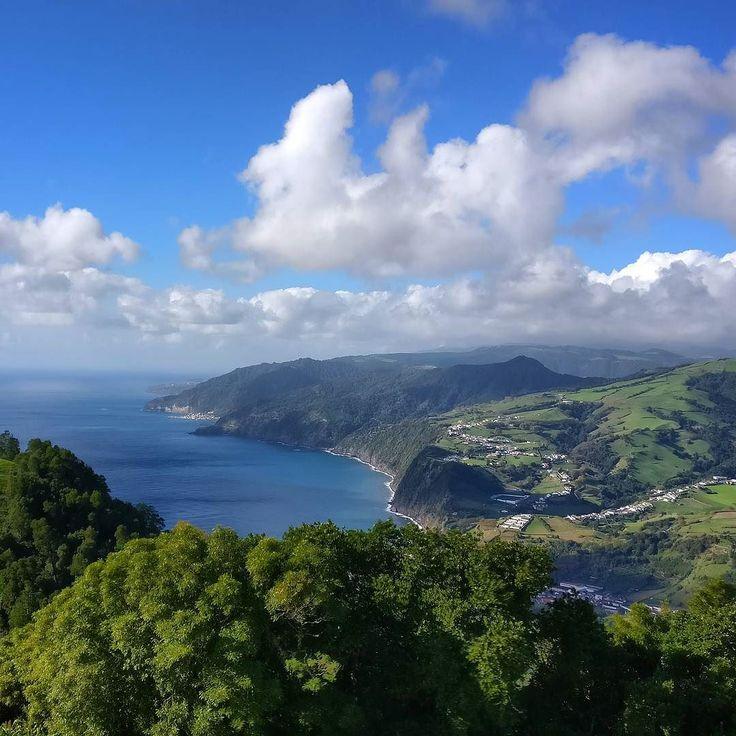such autumn much green  pico dos bodes  . #natureknowsbest #açores #azores #portugal #atlantic #prostozpodrozy #instatravel #hereandthere #alpakamybags #muchgreen #autumnnotautumn #coast #sea #ovejas #landscape #paradise