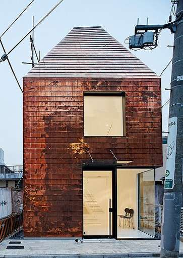 copper clad: the barnacle building by archivision in tokyo via trendhunter