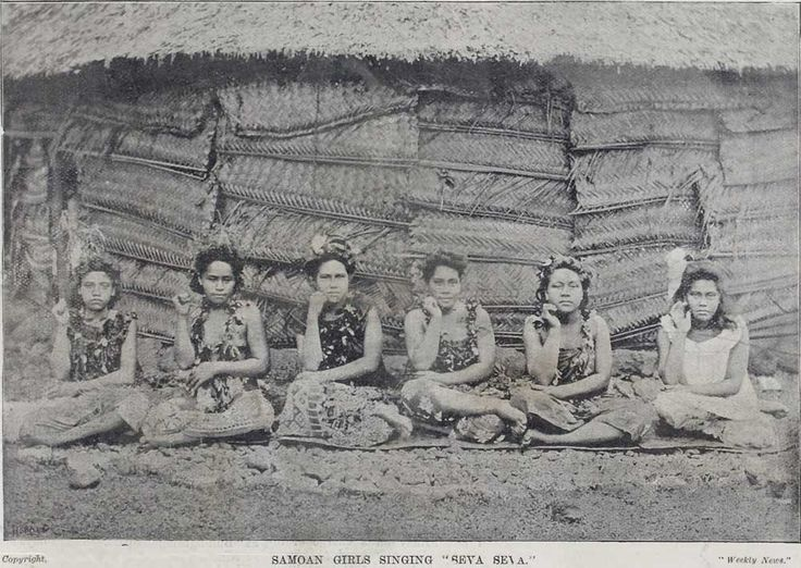 Samoan girls singing 'Seva Seva' Sir George Grey Special Collections, Auckland Libraries, AWNS-18980909-3-1'