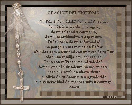 Oracion del enfermo.