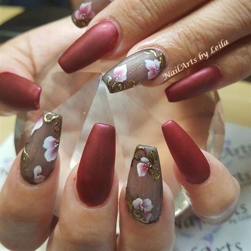 676 best flower nail art images on pinterest full set by nailartsbyleila from nail art gallery prinsesfo Gallery