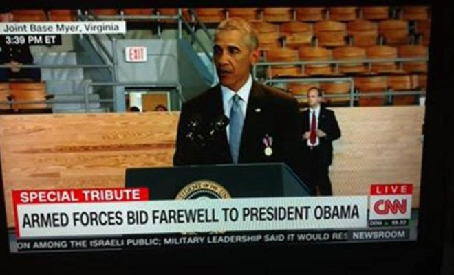 HUMILIATED! Obama Shown With Rows of Empty Seats Behind Him at Farewell Speech to Military [VIDEO]
