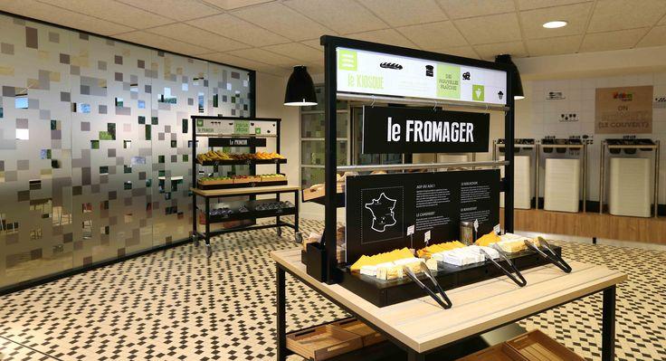 Nouveau mobilier restaurants / Agencement Restauration Collective / Présentoir à fromages